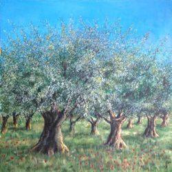 Peinture - Le champ des oliviers