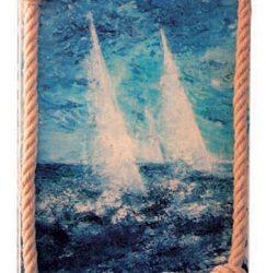 Peinture - Les voiliers blancs