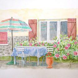 Peinture - Le parasol