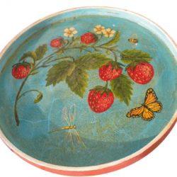 Décoration - Plateau aux fraises