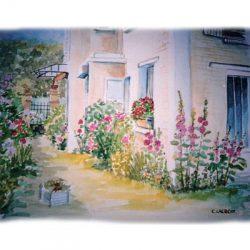 Peinture - Les roses trémières