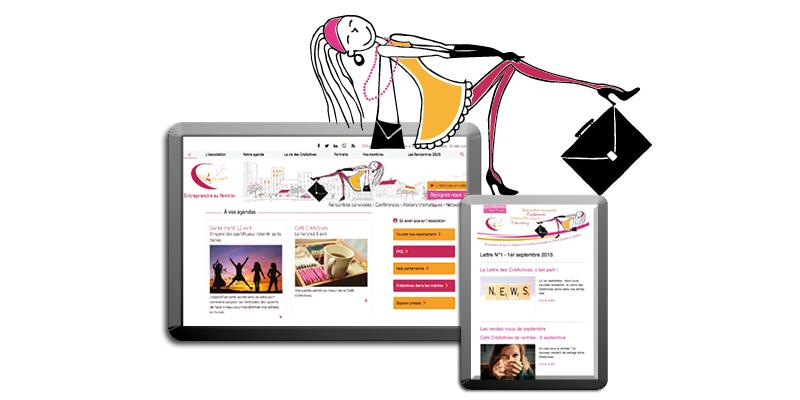 Edition CréActives Site Web et Newsletter(agrandir l'image)
