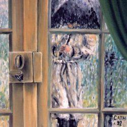 Peinture - Homme sous la pluie