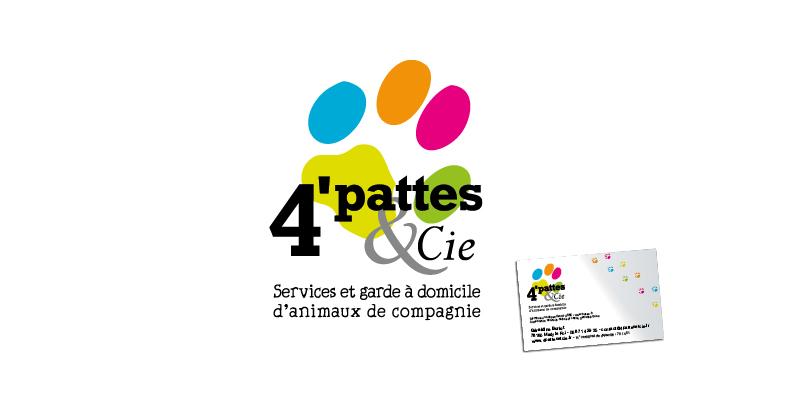 Identité visuelle 4Pattes et Cie(agrandir l'image)