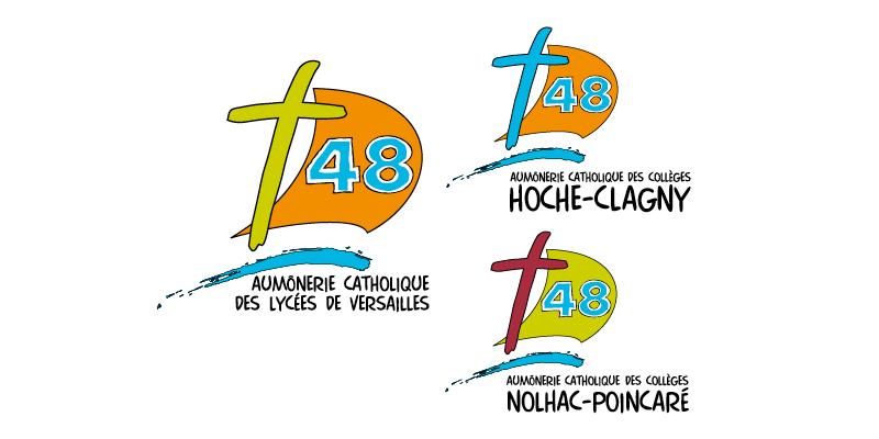 Identité visuelle Aumoneries du 48(agrandir l'image)