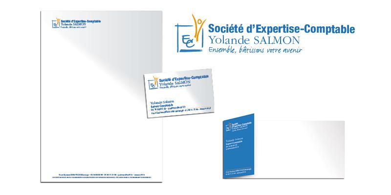 Identité visuelle Yolande Salmon(agrandir l'image)