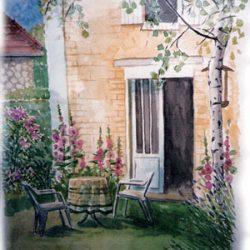 Peinture - La terrasse